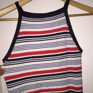 Striped halter /crop top from H&M